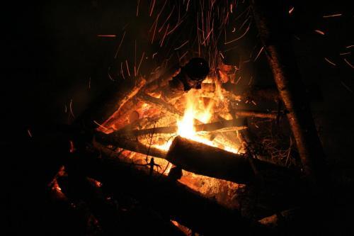 Moonlight Ski Bonfire